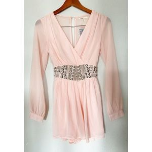 Love Culture Pink Beaded Romper